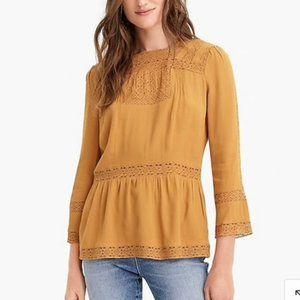 J. Crew | Boho Lace Crochet Top, Size 2